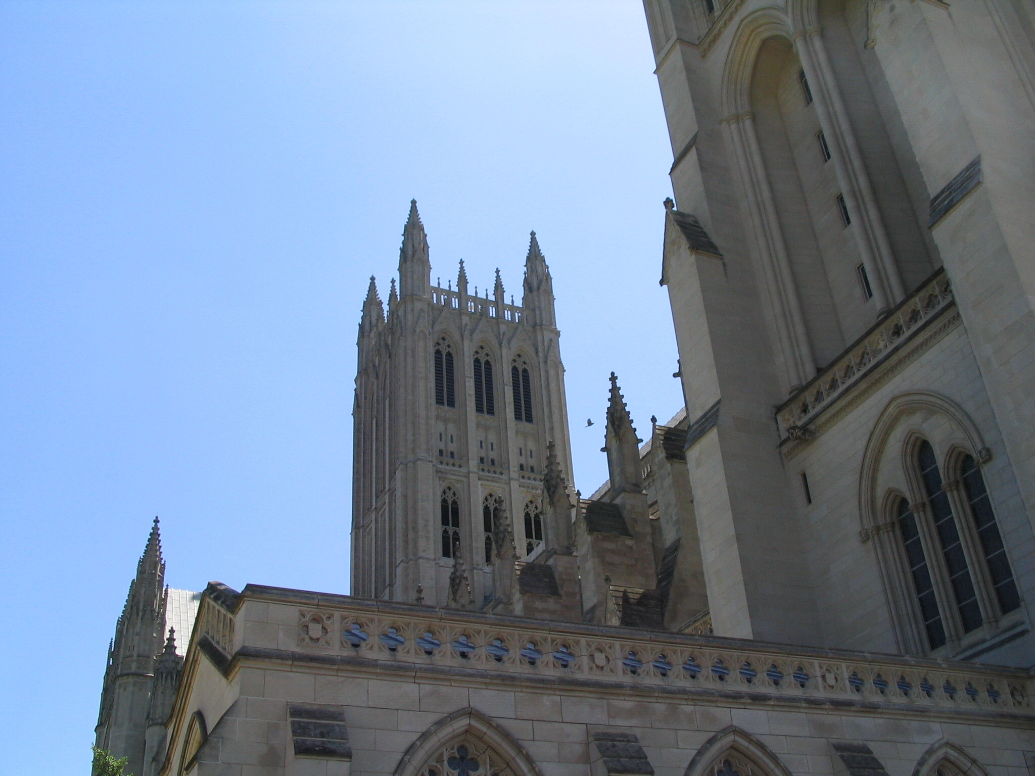 National Cathedral View of Towers over North Transept
